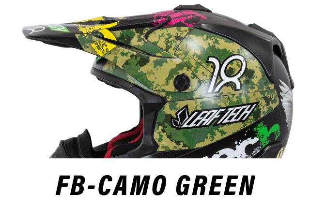 リーフテックヘルメットデカールfb-camo-green