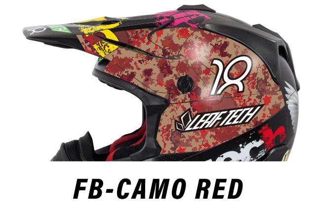 リーフテックヘルメットデカールfb-camo-red