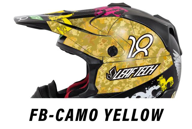 リーフテックヘルメットデカールfb-camo-yellow
