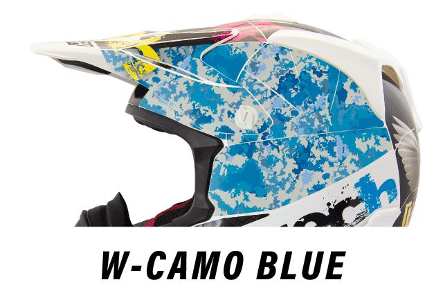 リーフテックヘルメットデカールw-camo-blue