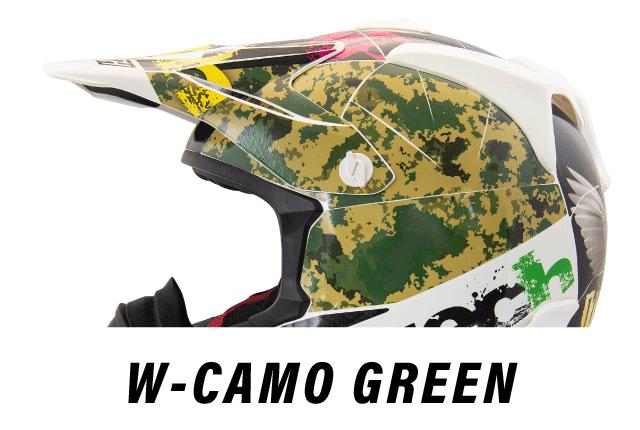 リーフテックヘルメットデカールw-camo-green