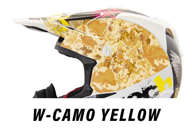 リーフテックヘルメットデカールw-camo-yellow