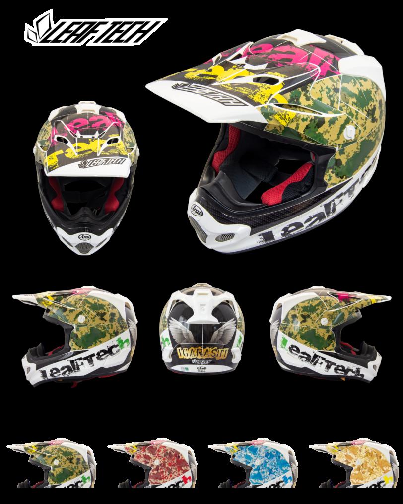 リーフテックヘルメットデカールw-camo